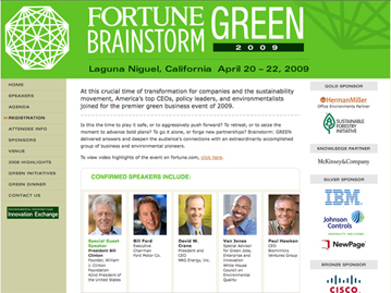 Brainstorm: GREEN Website 2009