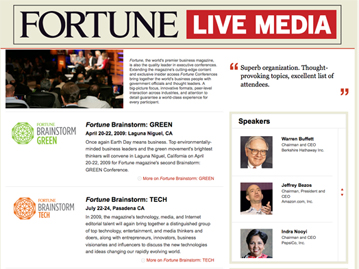 Fortune Live Media Homepage