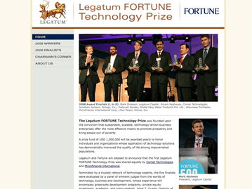 Legatum/Fortune Tech Prize Website